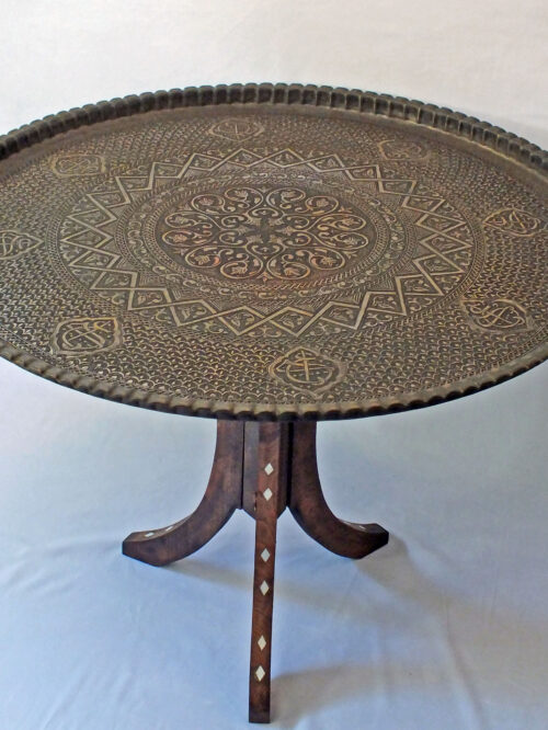 Large Lebanese Vintage Tray Table