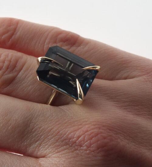 Dusk London blue topaz ring