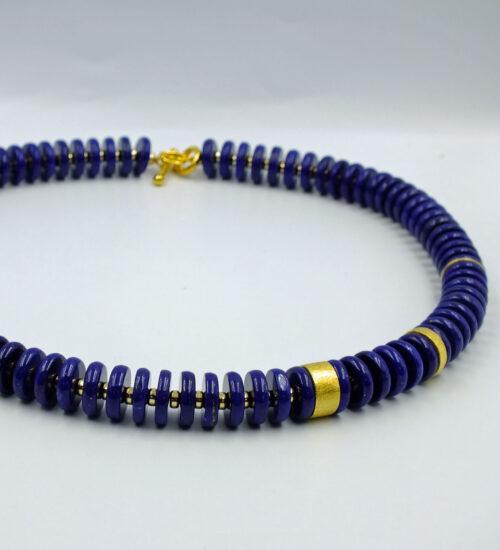 Lapis Discus Necklace £590