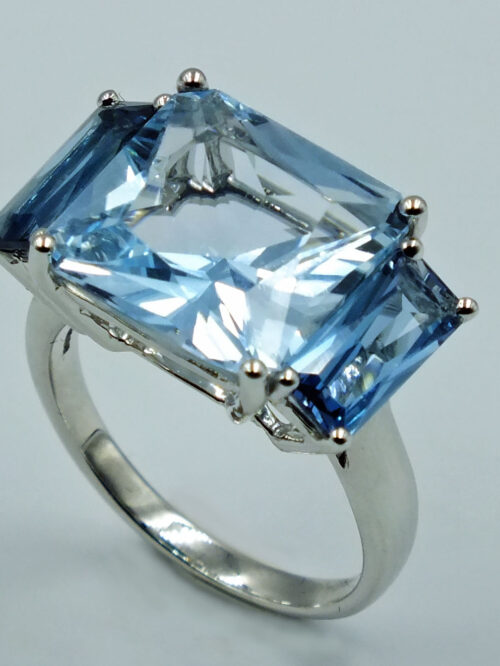 Triptych Blue ring