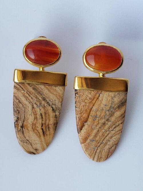 Carnelian & Jasper Earrings £360