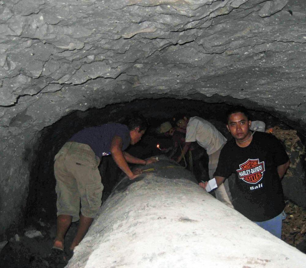 20' under ground in Sumatra