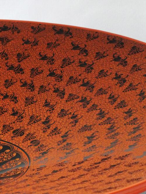 Large Burmese Lacquer Platter