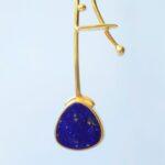 afghanistan lapis lazuli gold earrings