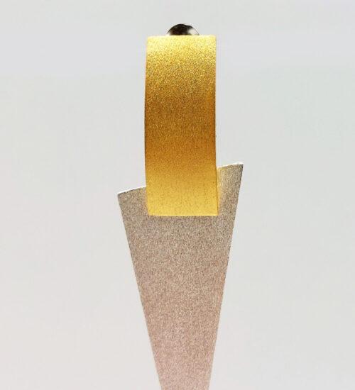 geometric earrings mixed metals